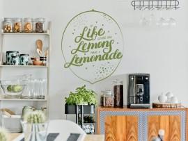 Autocolante Citação Lemon