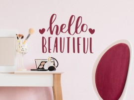 autocolante vinil hello beautiful