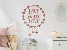 autocolante vinil love sweet love amor