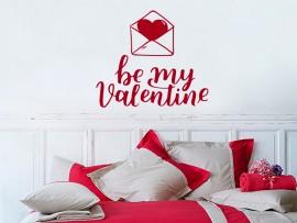 autocolante vinil be my valentine sao valentim
