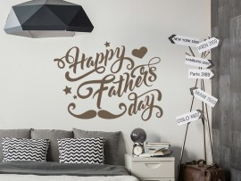 autocolante vinil Happy Fathers Day festa do pai