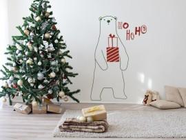 autocolante vinil urso de natal