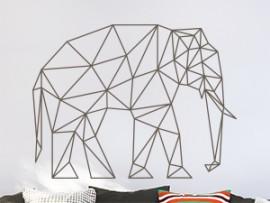 Autocolante Elefante Geométrico