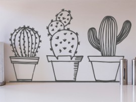 autocolante vinil pack cactus