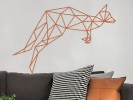 autocolante vinil kanguru geometrico