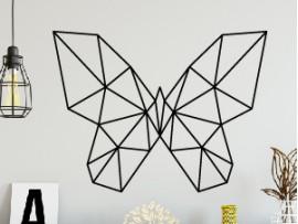 autocolante vinil borboleta geometrica