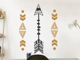 autocolante vinil setas maya etnico