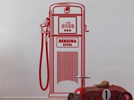 autocolante vinil bomba combustivel vintage