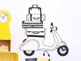 autocolante vinil vespa vintage scooter