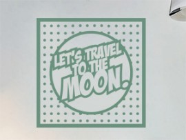 autocolante vinil pop art travel to the moon