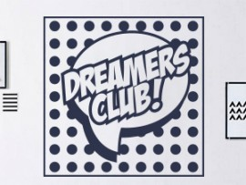 autocolante vinil pop art dreamers club