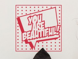 autocolante vinil pop art you are beautiful