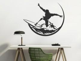 Autocolante Surfer Onda
