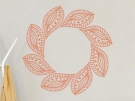 autocolante vinil folhas mandala