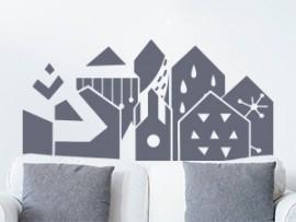 autocolante vinil skyline abstrato
