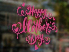 Autocolante Happy Mother's Day Corações