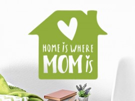 autocolante vinil home is where mom
