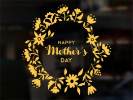 Autocolante Happy Mother's Day Floral