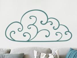 Autocolante Nuvem Abstrato