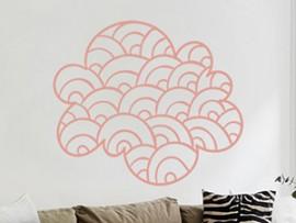 Autocolante Nuvem Abstrato 3