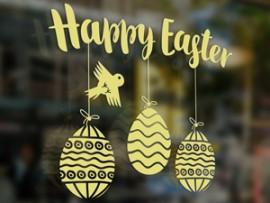 autocolante vinil happy easter ovos pascoa