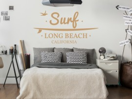 Autocolante Surf Long Beach