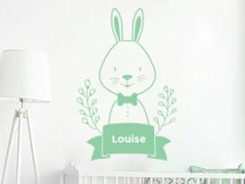 autocolante vinil cute coelho personalizado bebe