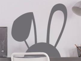 autocolante vinil orelhas de coelho pascoa