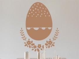 autocolante vinil ovo de pascoa floral 2
