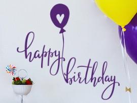 autocolante vinil happy birthday festa aniversario