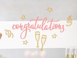 autocolante vinil parabens congratulations Champagne