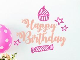 autocolante vinil festa personalizada aniversario