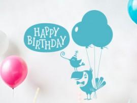 autocolante vinil happy birthday aniversario festa