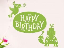 autocolante vinil happy birthday aniversario festa infantil