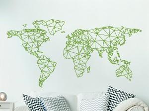 Autocolante Mapa do mundo Geométrico
