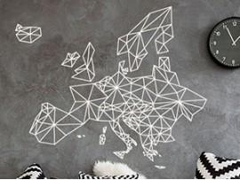 Autocolante Mapa de Europa Geométrico