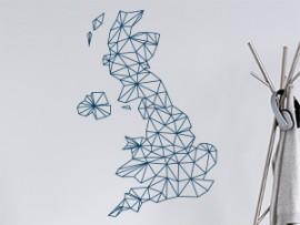 Autocolante Mapa de Inglaterra Geométrico