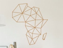 Autocolante Mapa de Africa Geométrico