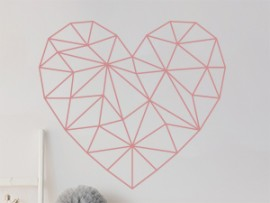 Autocolante Coração Geométrico