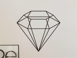 Autocolante Diamante Geométrico