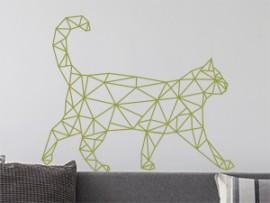 Autocolante Gato Geométrico