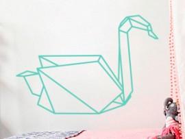 Autocolante Cisne Geométrico