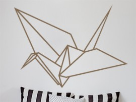 Autocolante Pássaro Geométrico 2
