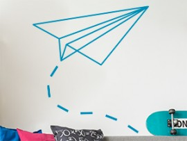 autocolante vinil aviao papel geometrico origami