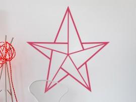 Autocolante Estrela Geométrico