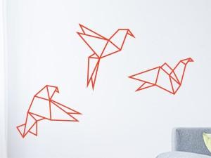 Autocolante Pack Pássaros Geométrico