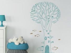 Autocolante Árvore Coral