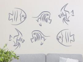 autocolante vinil peixes mar