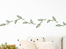 Autocolante Faixa Folhas no Vento
