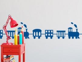 autocolante vinil faixa comboio infantil friso